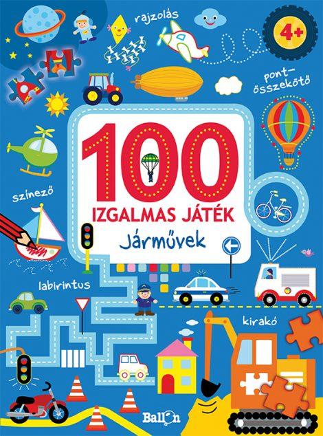 Könyv borító - 100 izgalmas játék – Járművek
