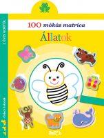 Könyv borító - 100 mókás matrica – Állatok