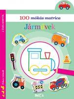 Könyv borító - 100 mókás matrica – Járművek