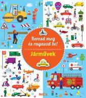 Könyv borító - Keresd meg és ragaszd be! – Járművek