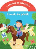 Könyv borító - Ragassz és színezz! – Lovak és pónik