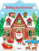 Könyv borító - Boldog karácsonyt! – Ragassz és színezz!