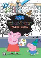 Könyv borító - Színezőfüzet matricákkal – Peppa malac (20 matrica)