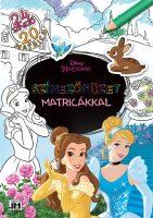 Könyv borító - Színezőfüzet matricákkal – Disney-hercegnők (20 matrica)